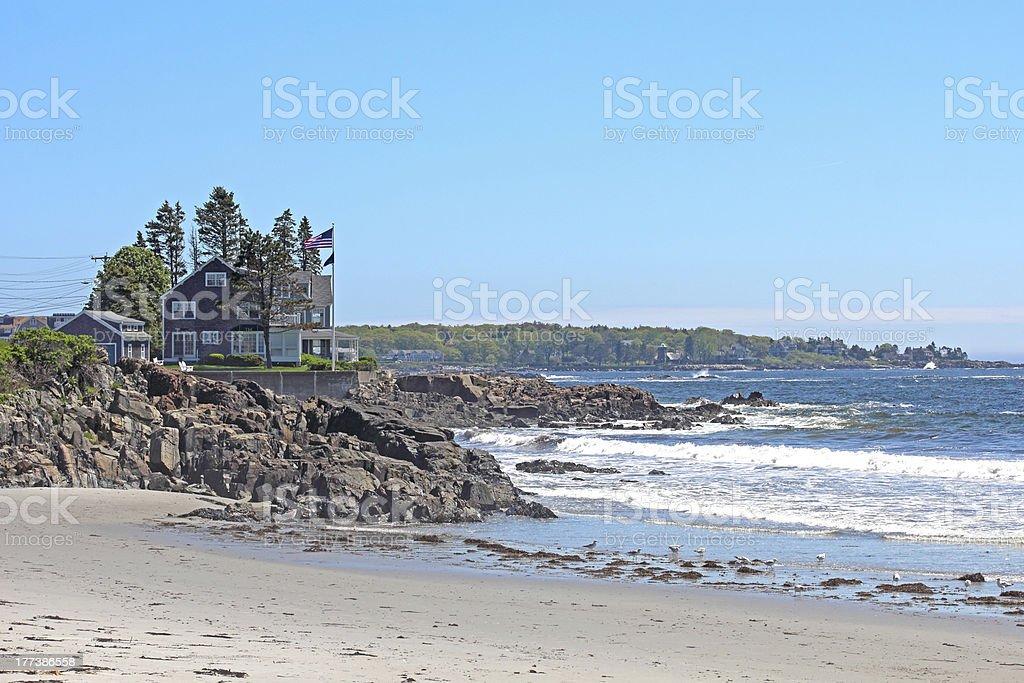 Kennebunkport Beach stock photo