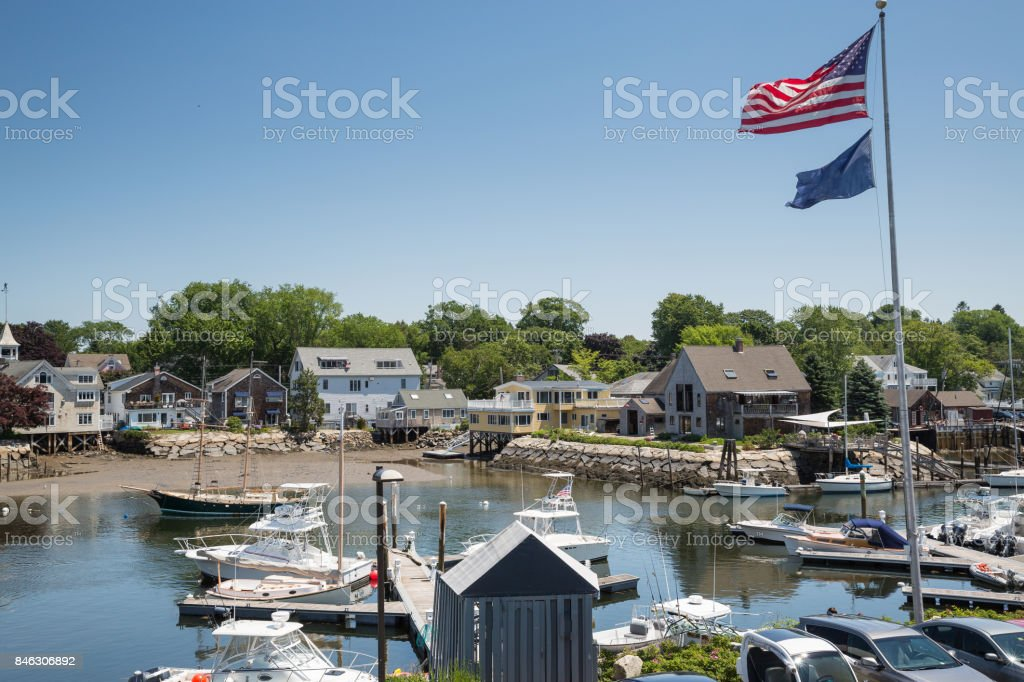 Kennebunkport New England Maine on a sunny afternoon stock photo