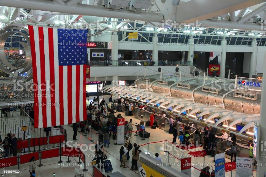 Aeropuerto Kennedy - foto de stock