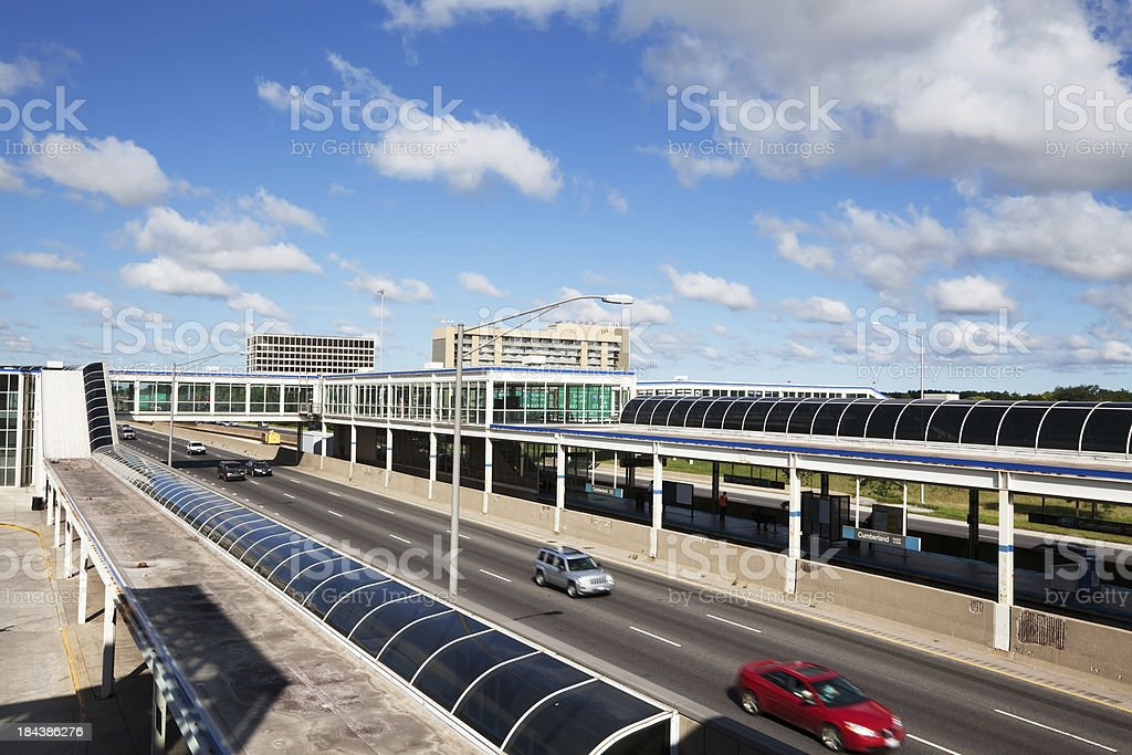 Kennedy Expressway at OHare Airport. Chicago royalty-free stock photo