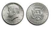 Obverse and reverse of Kennedy 50 cent piece.To see more of my financial images click on the link below: