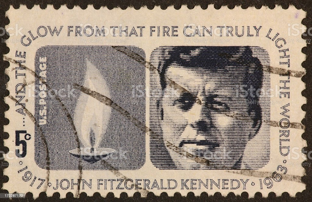 Kennedy postage stamp 1963 royalty-free stock photo