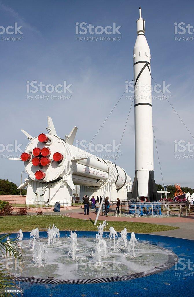 Kennedy Space Center, Roket Garden stock photo