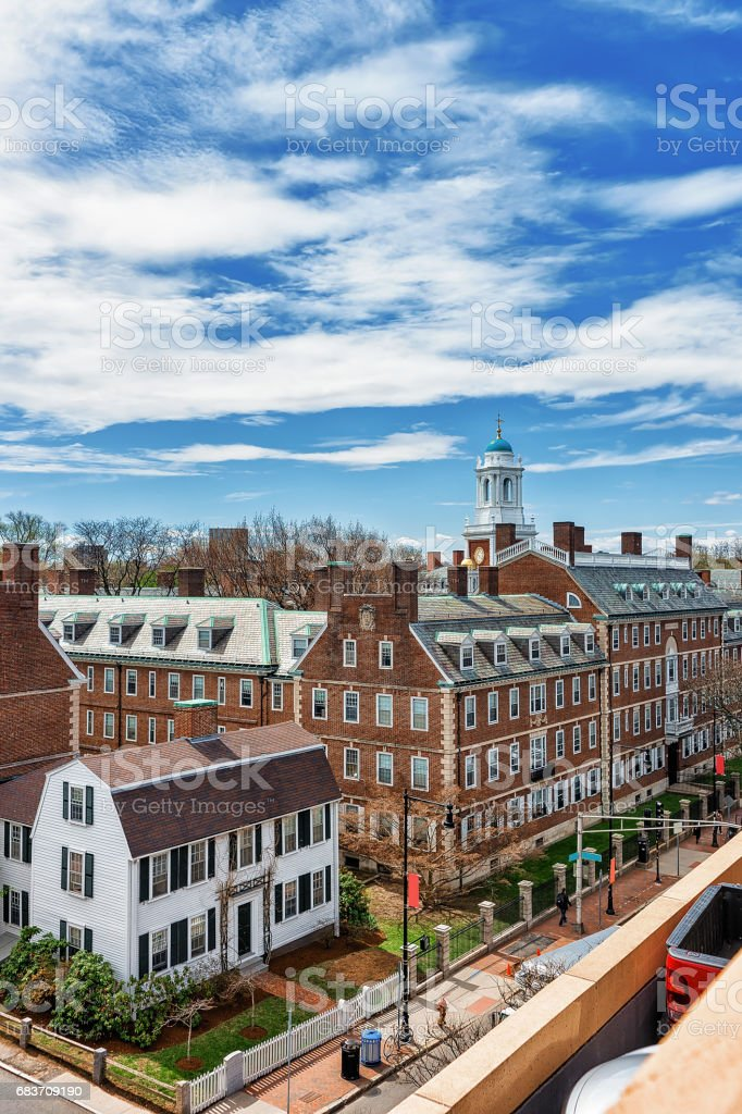 Kennedy Street Harvard University Area in Cambridge MA USA stock photo