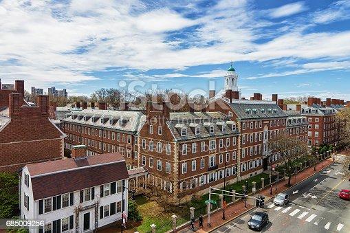 683709204istockphoto Kennedy Street in Harvard University Area in Cambridge MA America 685009256