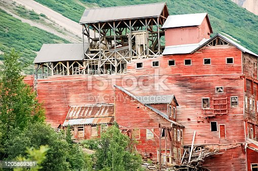 The Historic Kennecott mine, also spelled Kennicott, is located in Interior Alaska is a must see for tourists. The copper mine shows the amazing work of past days. Abandoned, this mine is a must see for travelers to Alaska. Located in the Wrangle Mountains, it was a special view on this bright day