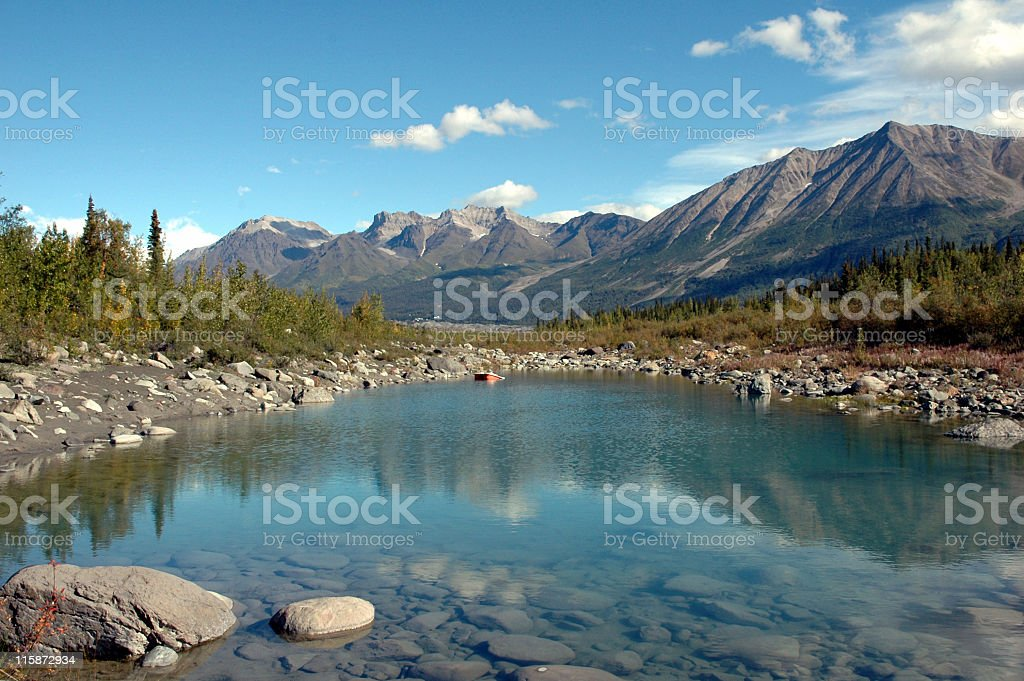 Kennicott River in Wrangell  St Elias National Park,McCarthy,Alaska. stock photo