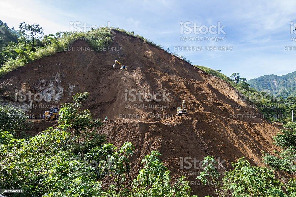 kennon road mudslide stock photo