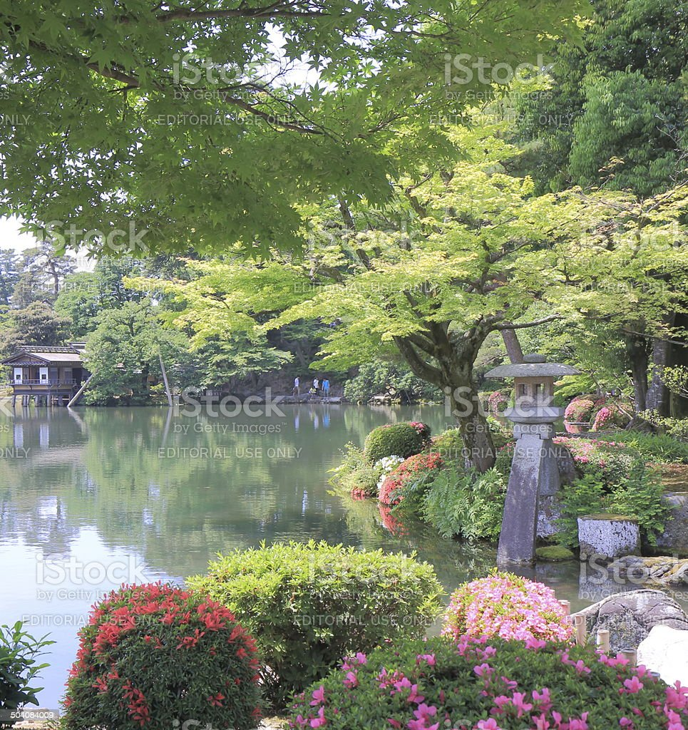Jard n kenrokuen kanazawa jap n fotograf a de stock y for Jardin kenrokuen en kanazawa