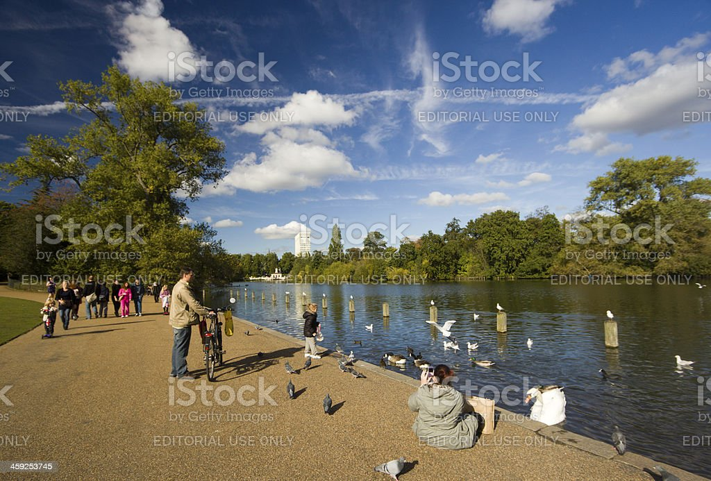Kensington Gardens in London, England stock photo