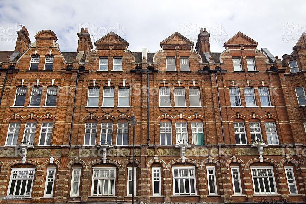 Kensington houses, London stock photo