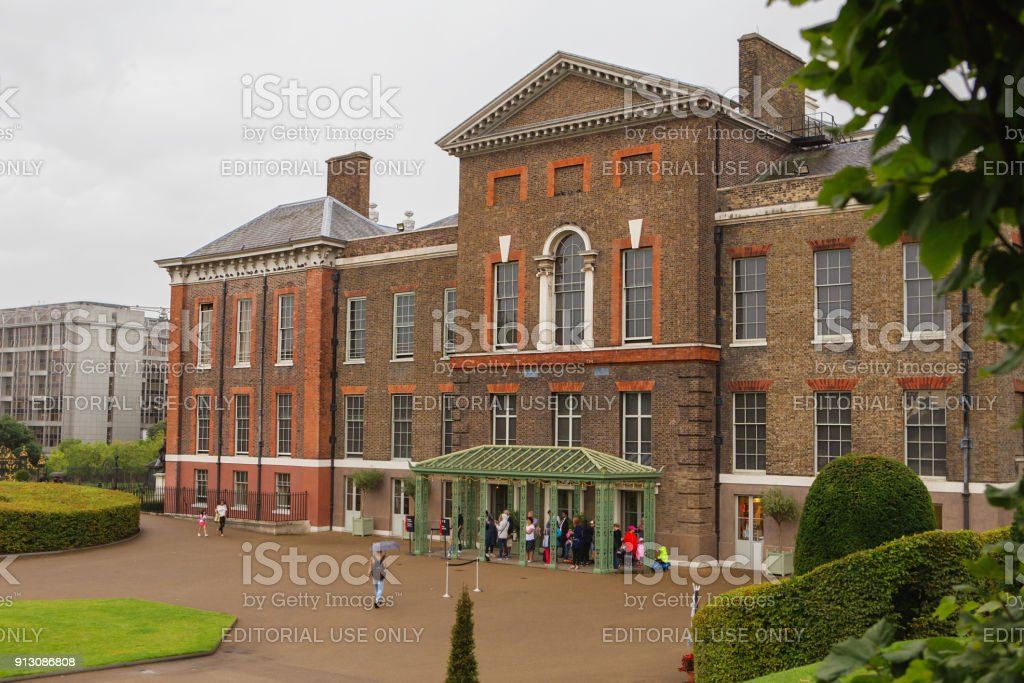 Kensington Palace in London. stock photo
