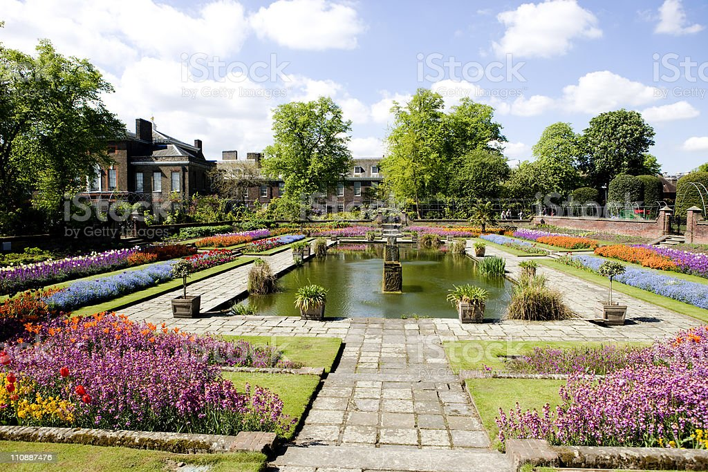 Kensington Palace Sunken Gardens stock photo
