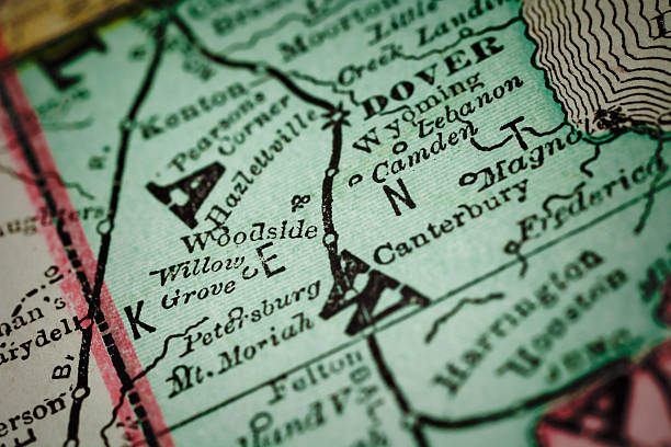 kent/delaware county-umgebungskarten - karten de stock-fotos und bilder