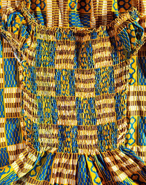 kente cloth dress - kente cloth stock photos and pictures