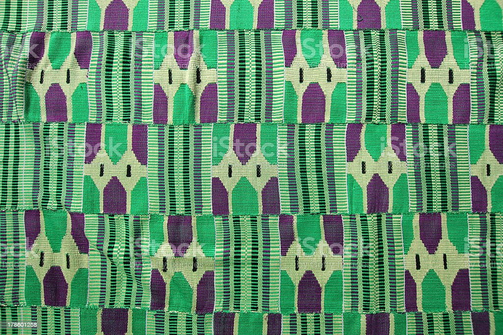 Kente Cloth, Ghana, West Africa stock photo