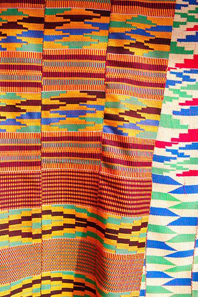 kente cloth - kente cloth stock photos and pictures