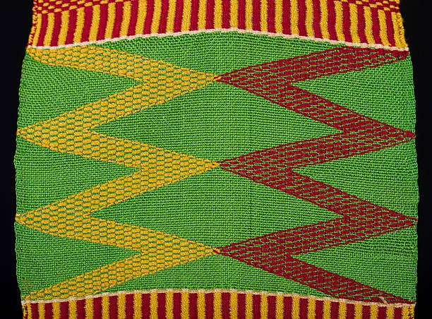 kente detail - kente cloth stock photos and pictures