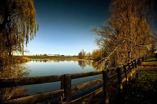 Kentucky Farm and Pond stock photo