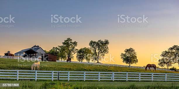 Photo of Kentucky farm at sunrise