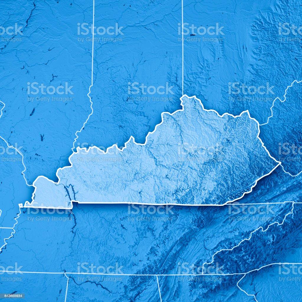 Kentucky State Usa 3d Render Topographic Map Blue Border Stock Photo on black kentucky map, funny kentucky map, cartoon kentucky map, print kentucky map, 3d kentucky flag, 3d kentucky outline, 3d kentucky poster, hd kentucky map,