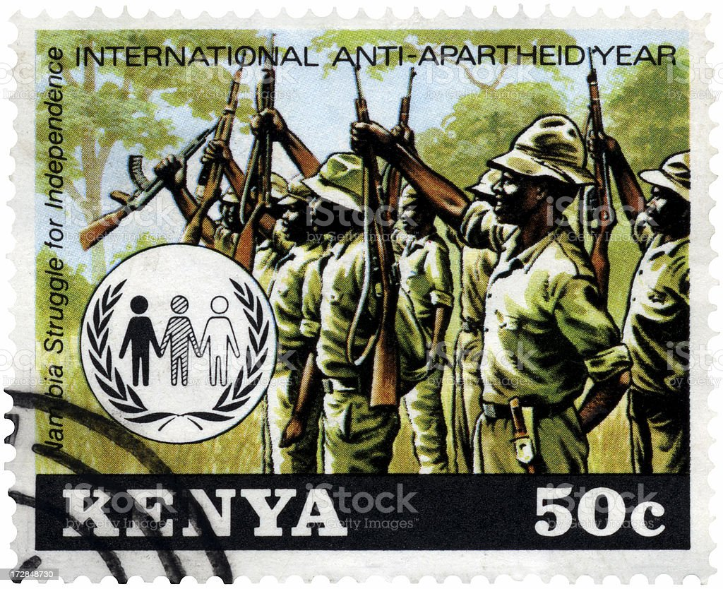 Kenya Anti-Apartheid Stamp stock photo