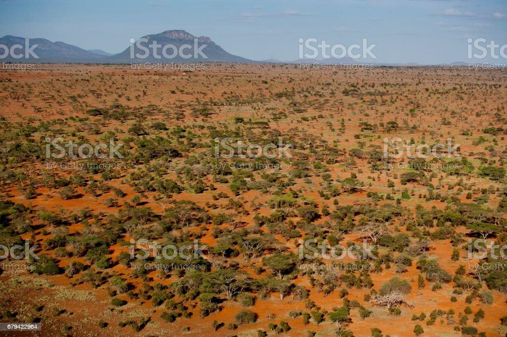 Kenya from the air royalty-free stock photo