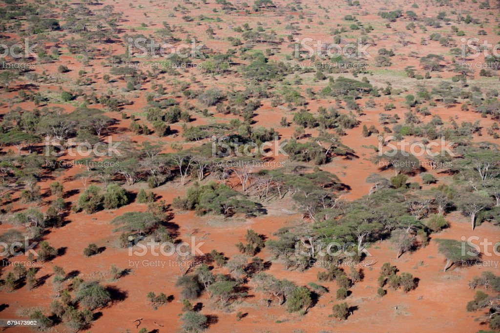 Kenya from the air 免版稅 stock photo