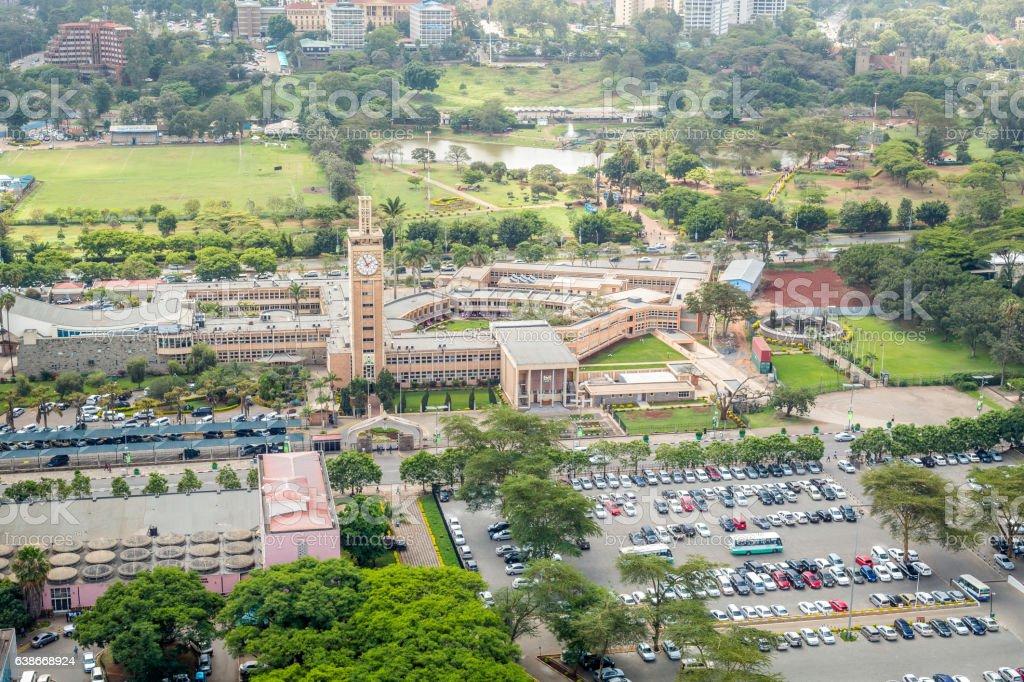Kenya Parliament Buildings, Nairobi stock photo