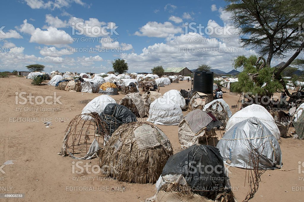 Kenya, Refugee camp in Turkana stock photo