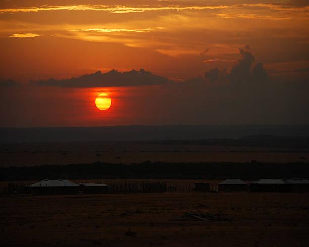 Kenya Sunset stock photo