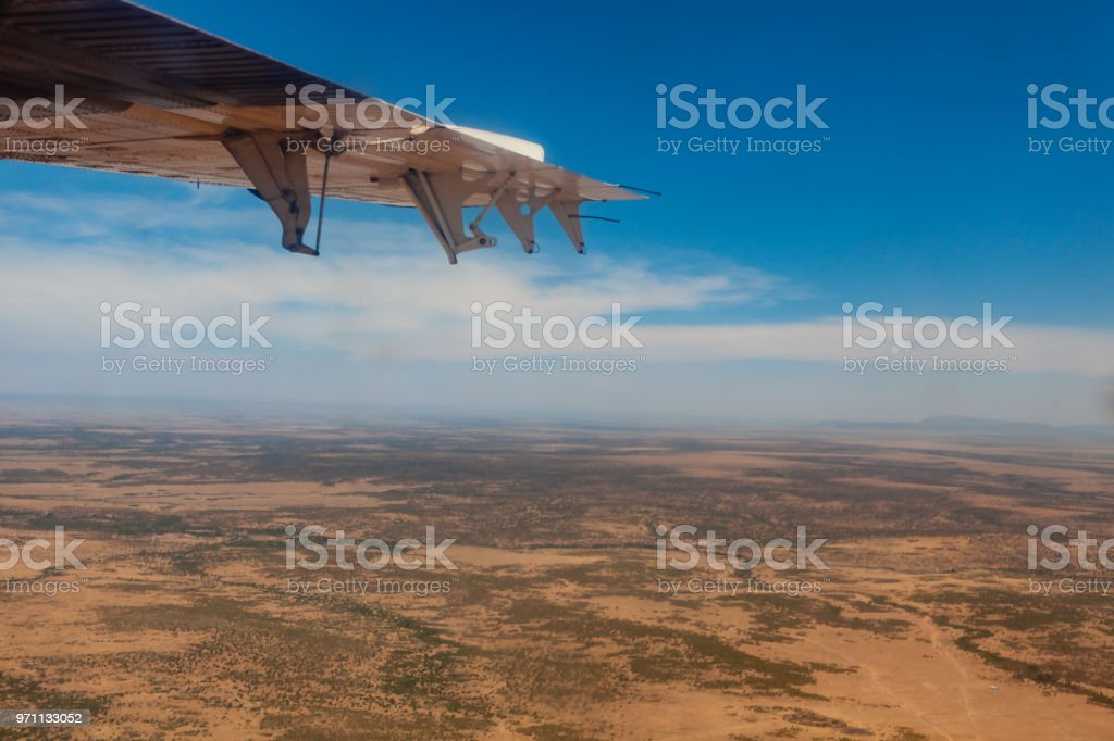 Kenia - Masai Mara, die aus einem kleinen Flugzeug betrachtet – Foto