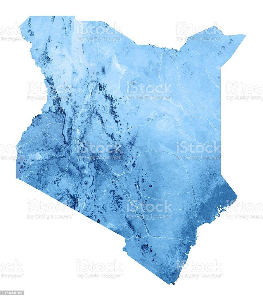 Kenya Topographic Map Isolated stock photo