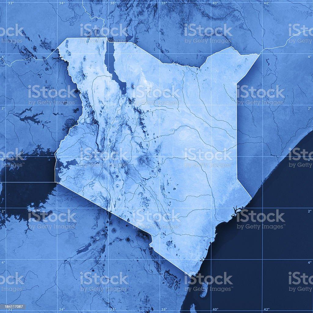 Kenya Topographic Map stock photo