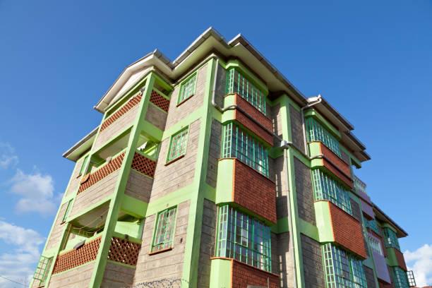 Kenyan Apartment Building stock photo