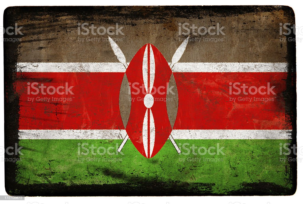 Kenyan Flag XXL royalty-free stock photo