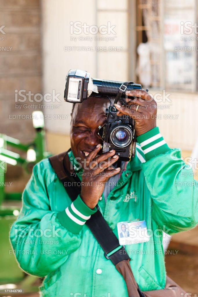 Kenyan Photographer royalty-free stock photo
