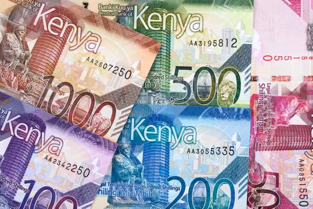 Kenianischer Schilling im Hintergrund – Foto