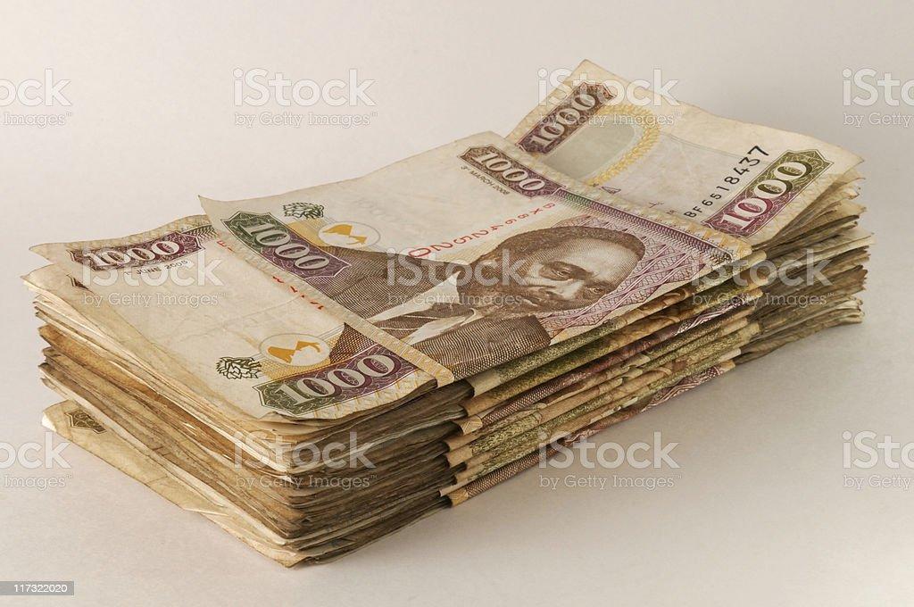 Kenyan Shillings: stack of 1,000 notes stock photo