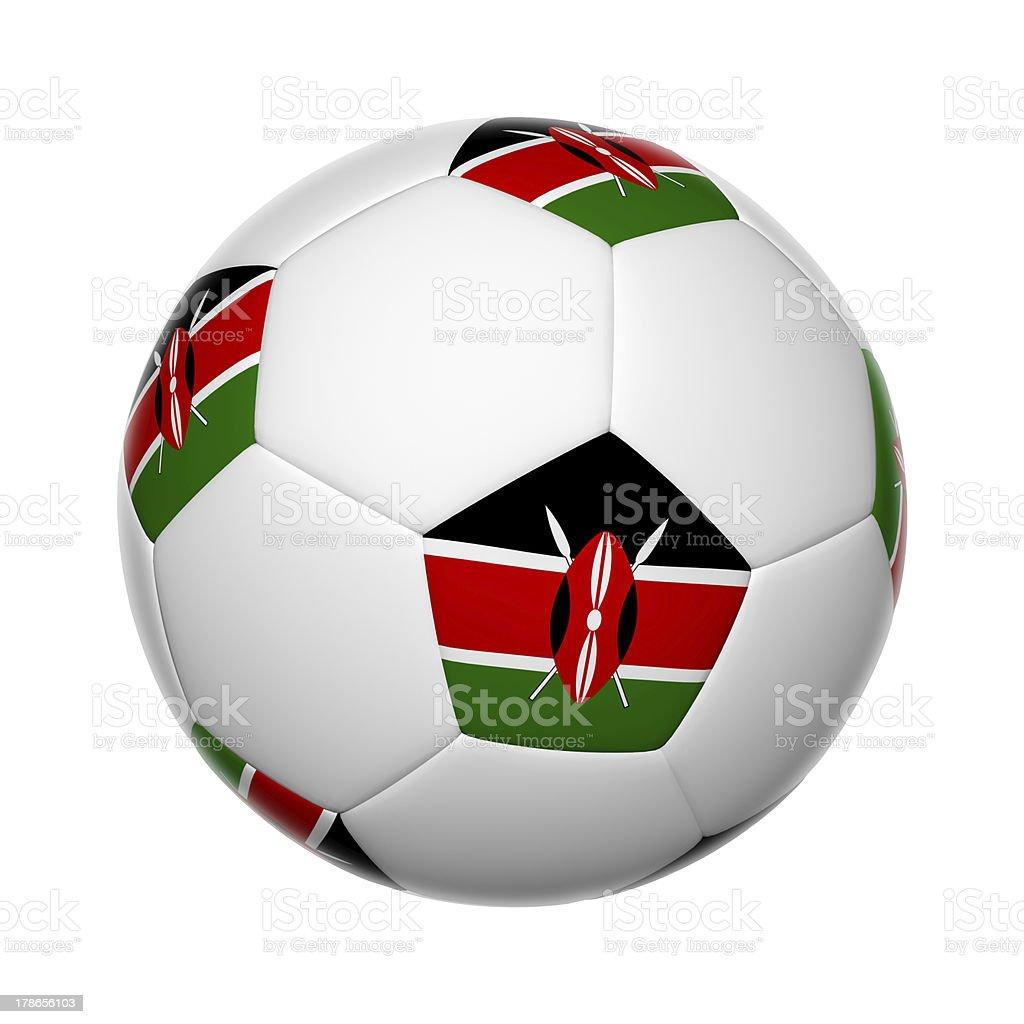 Kenyan soccer ball royalty-free stock photo