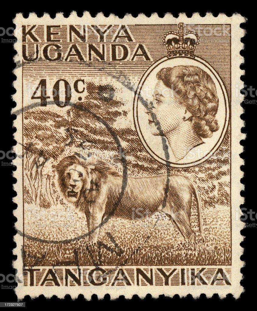 kenyan stamp royalty-free stock photo