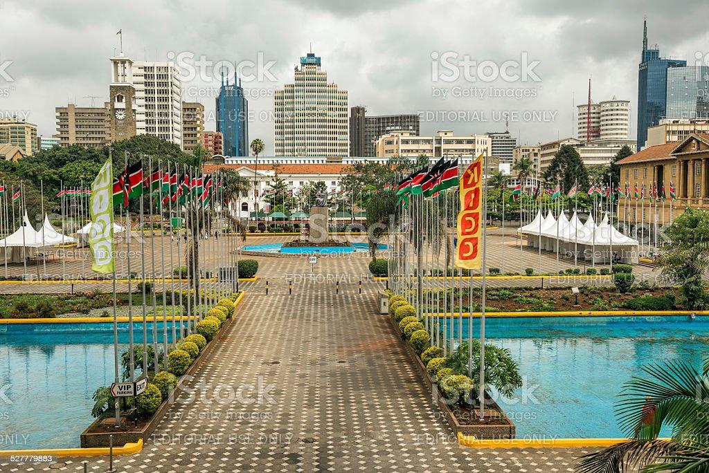 Kenyatta International Conference Centre in Nairobi stock photo