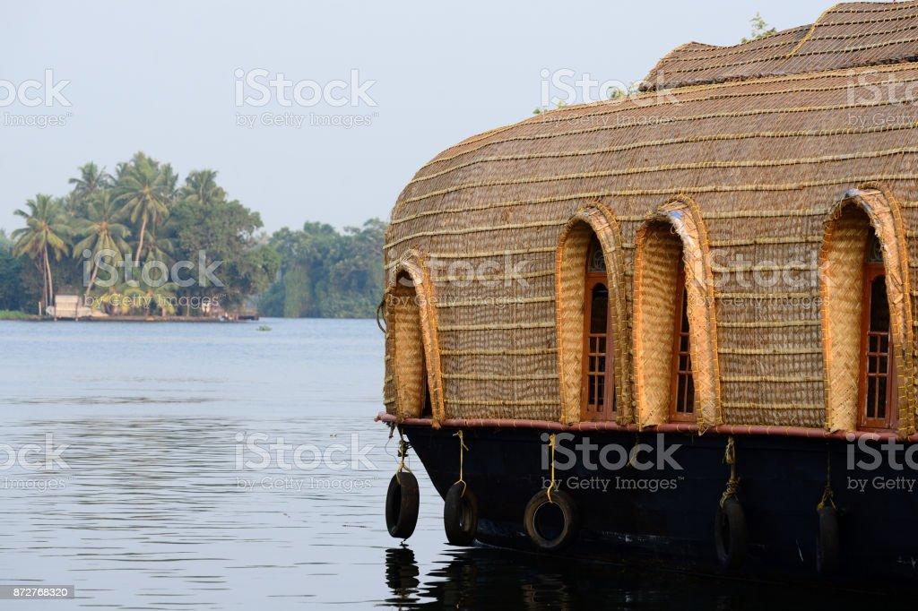 Kerala backwaters, Houseboats. stock photo