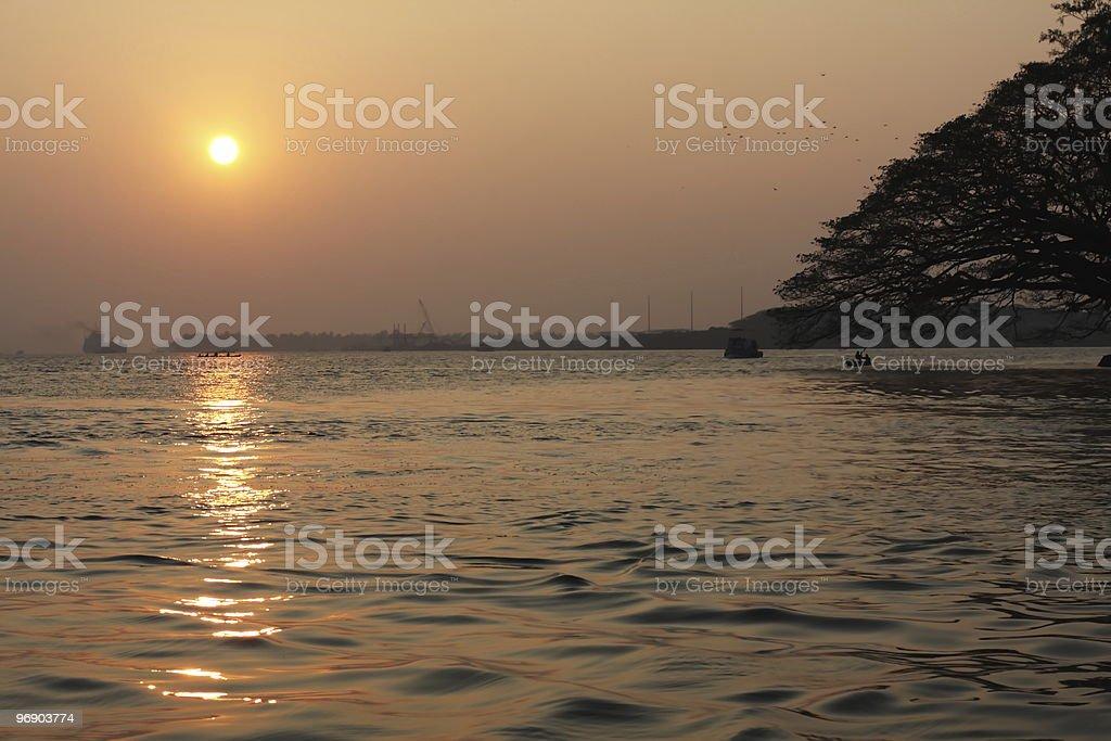 kerala coastline royalty-free stock photo
