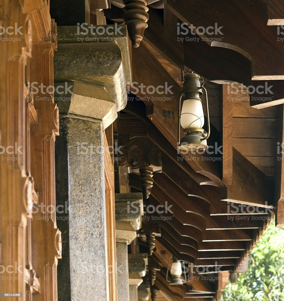 kerala house roof royalty-free stock photo