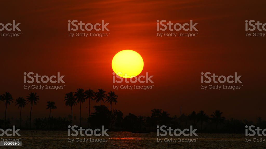 Kerala Sunrise stock photo