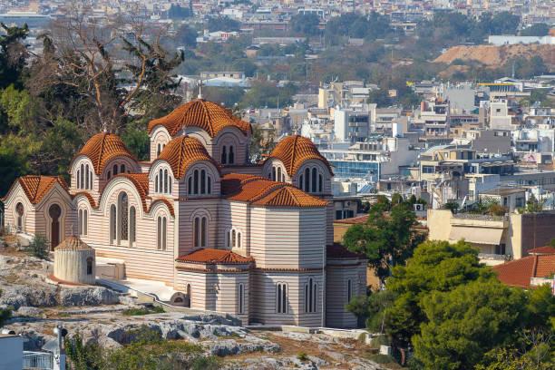 Kerameikos, archaeological site in athens stock photo
