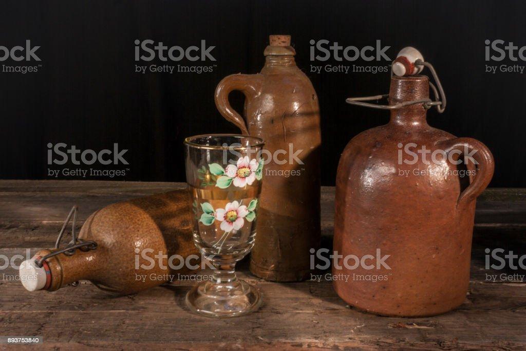 Keramik Flaschen stock photo