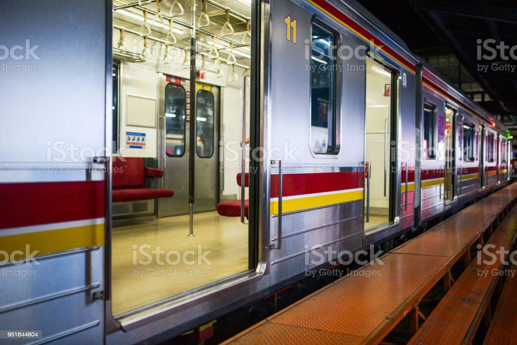 Kereta api Jakarta train in indonesia stock photo