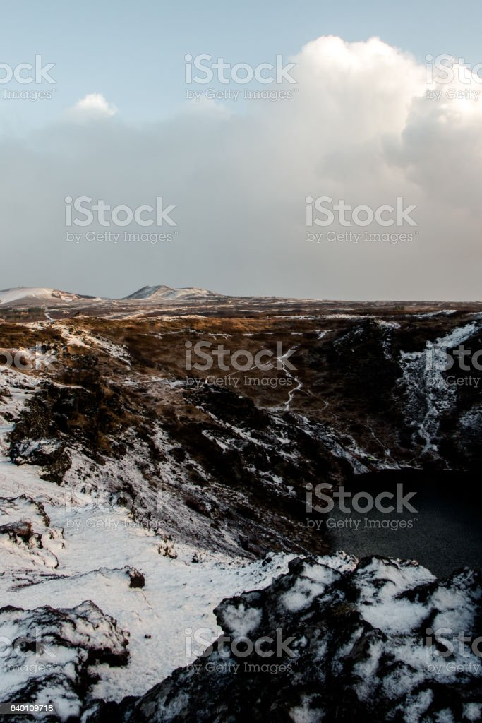Kerid, Iceland stock photo